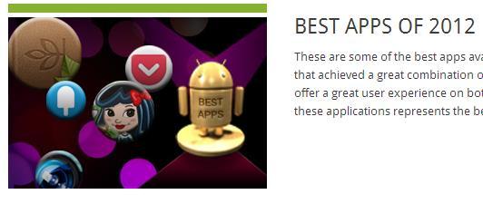 Best Apps 2012