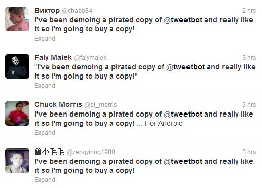 Tweetbot pirated copy